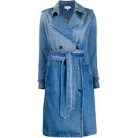 Frame Casaco Jeans Midi Com Abotoamento Duplo - Azul