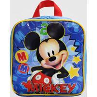 Lancheira Mickey Infantil Xeryus (Azul Escuro, Único)