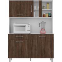 Cozinha Compacta Viena Ii 4 Pt 1 Gv Branco E Carvalho