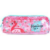 Estojo Escolar Flamingo Pacific-948M17 - Masculino-Rosa