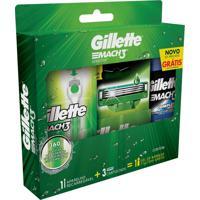 Kit Aparelho De Barbear Gillette Mach3 Acqua-Grip Sensitive 1 Unidade