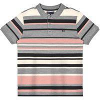 Camisa Polo Listras Rovitex Cinza