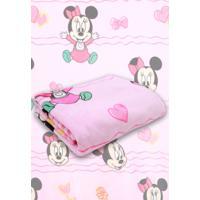 Manta Jolitex Disney Minnie Rosa - Rosa - Menina - Dafiti