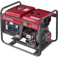 Gerador De Energia Branco Bd-4000 3.3Kva 7Cv A Diesel Partida Manual