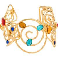 Rixo Bracelete Cersei Com Pedra Preciosa - Dourado
