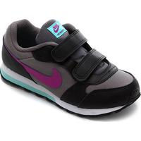 Tênis Infantil Nike Md Runner 2 Velcro Masculino - Masculino-Lilás+Preto