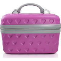 Frasqueira De Viagem Feminina Jacki Design Rígida Abs Média Pink