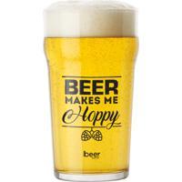 Copo Cerveja Nonik Pint (Beer Makes Me Hoppy) - 600Ml
