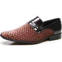 Sapato Social Masculino Calvest Em Couro Trv Verniz – Café 2320B857