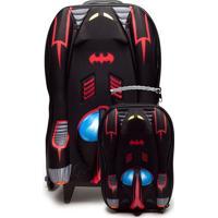 Kit De Mochila E Lancheira Max Toy Batman Preto