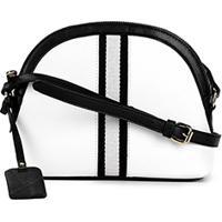 Bolsa Shoestock Mini Bag Crossbody Gorgorão Feminina - Feminino-Branco+Preto