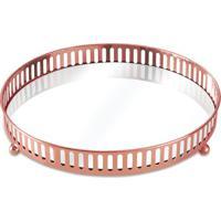 Bandeja Com Detalhes Vazados- Espelhada & Bronze- 4Xmart