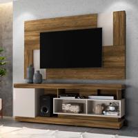 Rack Com Painel Extensível Para Tv Até 55 Polegadas Tijuca Canela E Off White 181 Cm