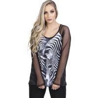 Blusa Zebra Bixugrillo Preto