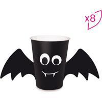 Jogo De Copos Morcego- Preta & Branca- 8 Unidades