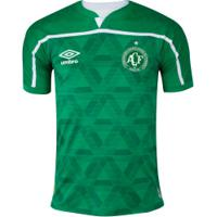 Camisa Do Chapecoense I Umbro 20 - Masculina - Verde/Branco