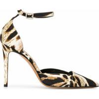 Alexandre Vauthier Sapato Cindy Com Estampa Leopardo E Salto 100Mm - Neutro