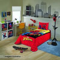 Colcha Spider Man® - Solteiro- Vermelha & Amarela- 1Lepper