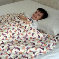 Cobertor Ponderado Artesanal Borboletas Grande 2 M X 1.4 M - Teiajubinha