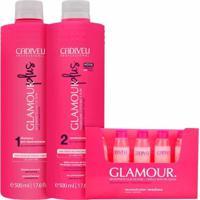 Kit Glamour Cadiveu Shampoo 250Ml+Condicionador 250Ml+Ampolas 10X15Ml - Rosa - Dafiti