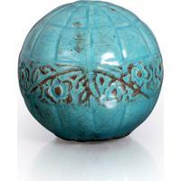 Esfera Violetas Iii Azul Turquesa Buzzios