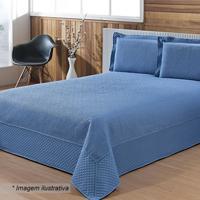 Conjunto De Colcha Lazio Queen Size - Azul Claro - 3Niazitex