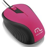 Mouse Ótico Multilaser Wave 1200 Dpi 3 Botões Com Fio Mo223 - Feminino