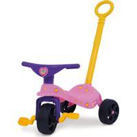 Triciclo Fofinha Com Empurrador Rosa Xalingo
