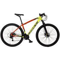 Bicicleta Mtb Aro 29 Quadro 17 Alumínio 21V Freio Disco Mecânico Z7-X Amarelo/Vermelho - Dropp