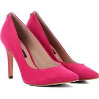 Scarpin Couro Jorge Bischoff Salto Alto Recorte V - Feminino-Pink