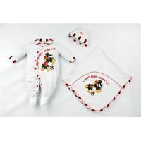 Saída Maternidade Suedine Unissex Flamengo Reve Dor - Unissex-Branco+Vermelho