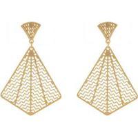 Brinco Dourado Triangular - Dourado