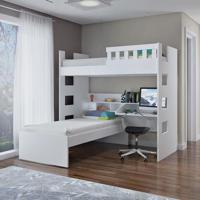 Beliche Escrivaninha C/ Grade De Proteção 100% Mdf Branco Foscarini