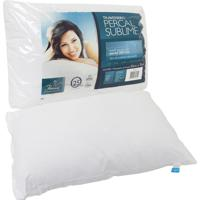 Travesseiro Fibrasca Percal Sublime 180 Fios Branco.
