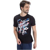 Camiseta Oxer Sporty - Masculina - Preto