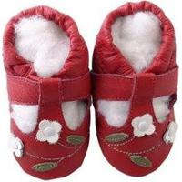Pantufa Catz Calçados Infantil Couro Salomé Feminina - Feminino-Vermelho