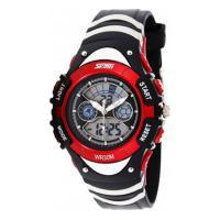Relógio Skmei Infantil -0998- Preto E Vermelho