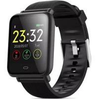 Smartwatch Bracelet Monitor Cardíaco Q9 Preto