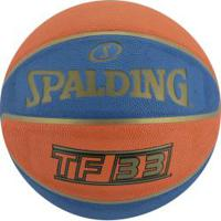 Bola De Basquete Spalding Tf-33 Official Game Ball 6 - Azul/Laranja