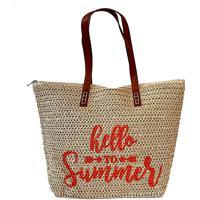 Bolsa Shopper Palha Summer Laranja