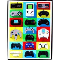 Placa De Metal Consoles Game - Zona Criativa