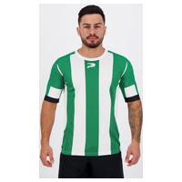 Camisa Placar Estampada Verde E Branca