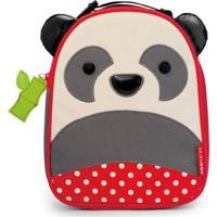 Lancheira Infantil Skip Hop Zoo Panda Masculina - Masculino-Vermelho