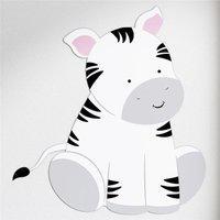 Adesivo Parede Amiguinha Zebra Gráo De Gente Preto