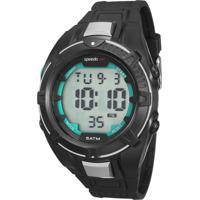 Kit De Relógio Digital Speedo Masculino + Carregador Portátil - 81131G0Evnp4K Preto