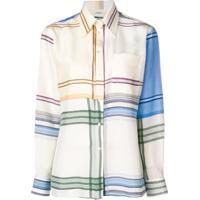 Ports 1961 Camisa Xadrez Com Mangas Longas - Branco