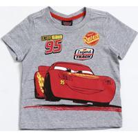 Camiseta Infantil Manga Curta Carros Mcqueen Disney
