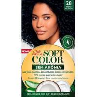 Coloração Wella Soft Color - Tons Escuros Preto Azulado 28 - Unissex-Incolor