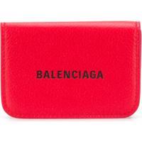 Balenciaga Carteira Cash Mini - Vermelho