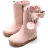53364e3ae74237 Bota Klin Menina Miss Fashion Rosa